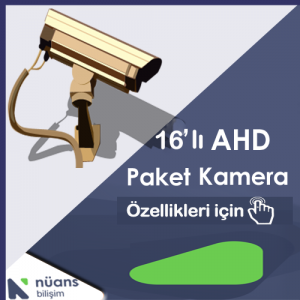 16'lı Paket Kamera Özellikler İçin Tıklayınız