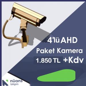 4'lü Paket Kamera Özellikleri İçin Tıklayınız